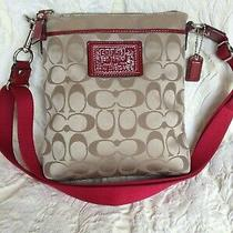 Coach Kitt Messenger Cross Body Purse Signature C Logo Canvas Photo