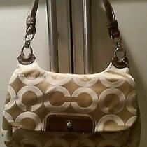 Coach Kristin 16953 Op Art Canvas Hobo Handbag Msrp 228.00 Photo