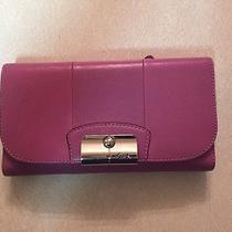 Coach Kristin Checkbook Wallet Violet Photo