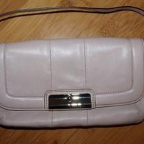 Coach Kristin Leather Breast Cancer Wristlet Handbag Purse Clutch Pale Rose Pink Photo