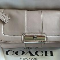 Coach Kristin Light Pink Leather Phone Wallet Wristlet Bag Special Edition  Photo