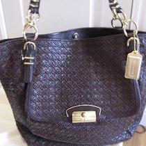 Coach Kristin ltd.edition Pinnacle Woven Leather Tote Bag Purse Euc 1200 Photo