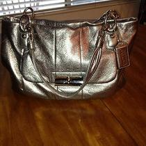 Coach Kristin Metallic Leather Silver 16814 Mint Condition Photo