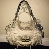 Coach Kristin Op Art Gold Satchel Handbag Photo