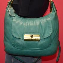 Coach Kristin Turquoise Leather Hobo Crossbody Clip Shoulder Bag Purse 16808 Photo