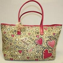 Coach L1076-16507 Poppy Graffiti Coated Canvas Tote Purse Large Bag Handbag  Photo