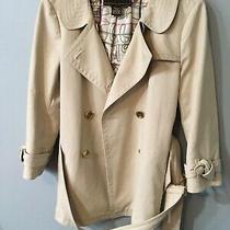 Coach Ladies Double Breasted Size 8 Heavy Rain Jacket Cream Photo