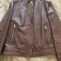 Coach Ladies Leather Jacket Size 8 Photo