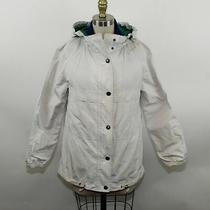 Coach Ladies White Zip Up Hooded Jacket Size Xs Photo