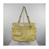 Coach Ladies Yellow Patent Leather Tote Bag Photo