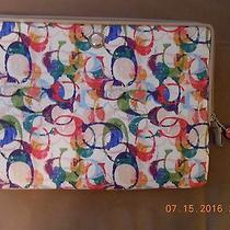 Coach Laptop Sleeve Case Poppy Stamped Photo