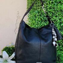 Coach Large Avery Black Leather Hobo Shoulder Bag Purse Handbag Satchel 23309 Photo