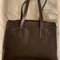 Coach Large Black Leather Laptop Tote Hampton Hos-5209 Bag Briefcase Padded Photo