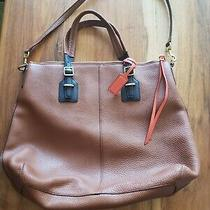 Coach Large Brown Leather Tote Excellent Condition Shoulder Strap Included Photo