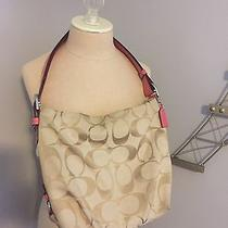 Coach Large Pink and Beige Hobo Bag Photo