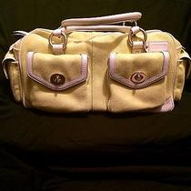 Coach Large Satchel Yellow Authentic Photo