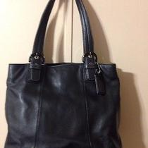 Coach Large Soho North South Tote F17216 Black Leather  Photo