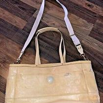 Coach Large Yellow Patent Leather Diaper Bag With Gold Tone Hardware Photo