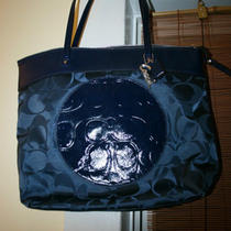 Coach - Laura Tote - Navy Blue - 2012 Retail 328 Photo