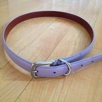 Coach Lavender Leather Belt Medium Photo