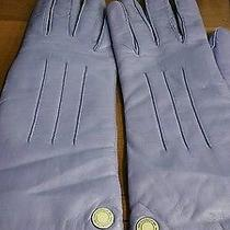 Coach Lavender Leather Gloves Photo