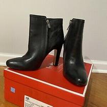 Coach Leather Ankle Boots Black Size 7 Photo