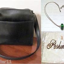 Coach Leather Bag 9053 & Hangtagexpress Murano Glass Necklacepashmina Scarf  Photo
