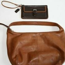 Coach Leather  Bag   Authentic  Purse & New Wristlet  Gloved Tanned Cowhide Photo