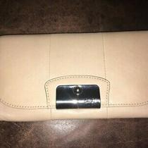 Coach Leather Beige Clutch New Photo