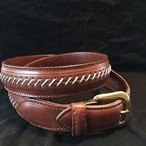 Coach Leather Belt Western Design Brass Buckle Southwesten Belt Designer  Casual Photo