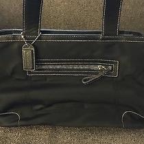 Coach Leather Black Handbag Photo