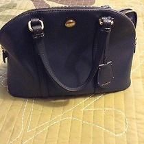Coach Leather Blue Satchel Photo
