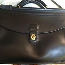 Coach Leather Briefcase Attache Glove-Tanned Cowhide Usa Made A7c-5266 Euc Black Photo