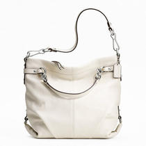 Coach Leather Brooke Style F17165 Sv/white Photo