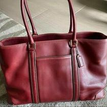 Coach Leather Burgundy Red Tote Laptop Briefcase - Excellent Condition Photo