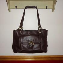 Coach Leather Campbell Belle Bag F24961 Mahogany Euc Photo