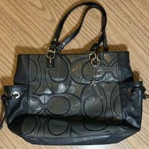 Coach Leather Colette Overlay Signature Tote Handbag Style  16449 Photo