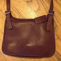 Coach Leather Cross Body Hippie Swing Pack Wine Red Euc Made in Usa Dod 9142 Photo