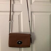 Coach Leather Crossbody Women's Bag Luggage Color Photo