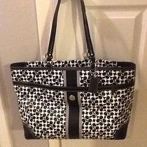 Coach Leather Diaper Baby Bag Large Handbag Tote Photo