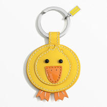 Coach Leather Duck Key Ring Style F92831 Sv/yellow Photo