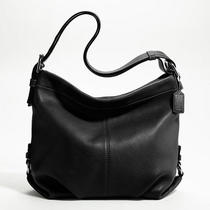 Coach Leather Duffle Style F15064 Sv/black Photo