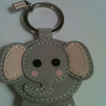 Coach Leather Elephant Key Fob  Photo