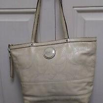 Coach Leather Est. 1941 Cream / Pale Yellow Handbag Purse Bag Tote  L1120-F1514 Photo