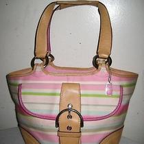 Coach  Leather / Fabric Multicolor Striped Tote Bag  Photo
