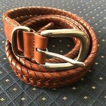 Coach Leather Fishtale Woven Belt Size 38 Photo