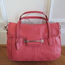 Coach Leather Flap Satchel  ( Tearose / Silver ) Photo