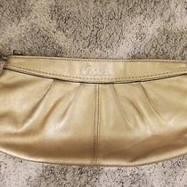 Coach Leather Gold Clutch Photo