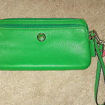 Coach Leather Green Clutch Photo