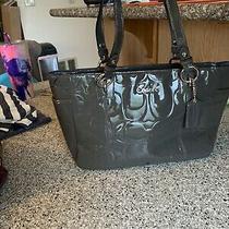 Coach Leather Handbag/purse/tote/bag Grey Photo